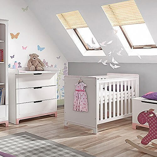 Cuna Cama Para Niños Massivbett Mini color blanco